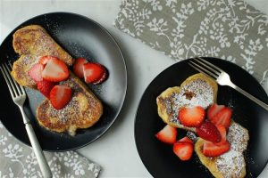 Strawberry Heart French Toast