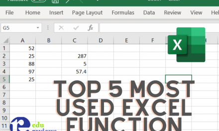 Top 5 Most Useful Excel Function